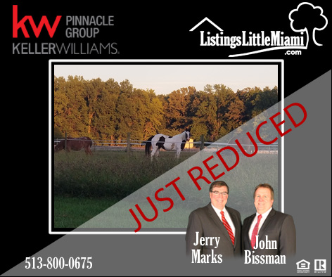 New Reduced Price 6742 6884 Woodward Claypool Road Morrow Ohio 45152 47 Acre Horse Farm With Indoor Arena And Le