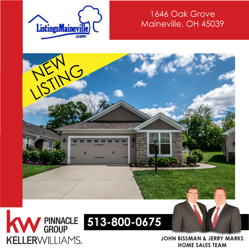 New Listing U2013 1646 Oak Grove Lane, Maineville, Ohio 45039 U2013 Move In Ready 2  Bedroom Ranch Home For Sale In Pool Community!